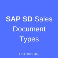 sap sd sales document types