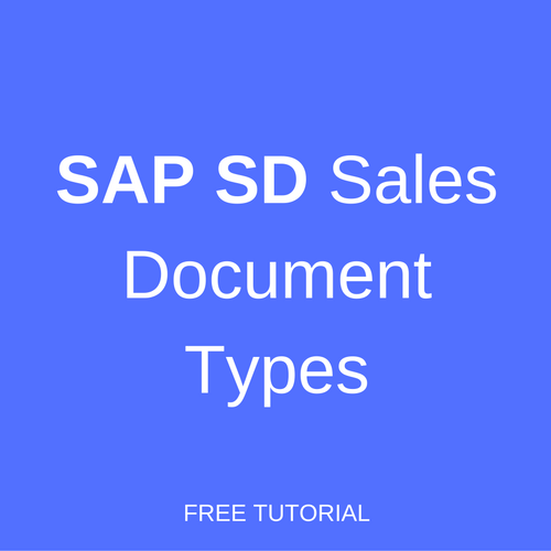 SAP SD Sales Document Types - Free SAP SD Training