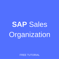 sap sales organization