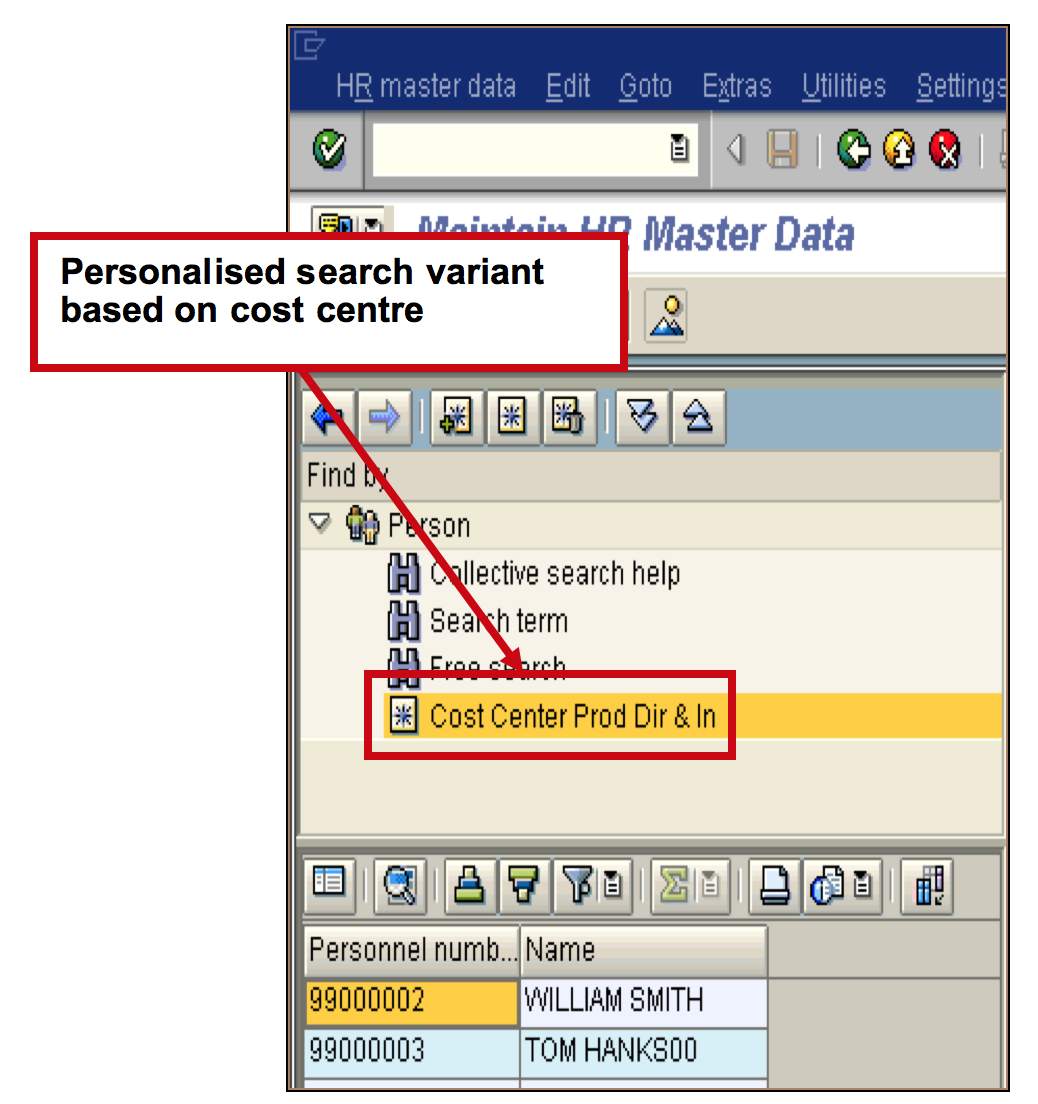 Search variants