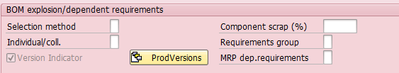 A Fragment of MRP4 View in SAP Material Master (1)