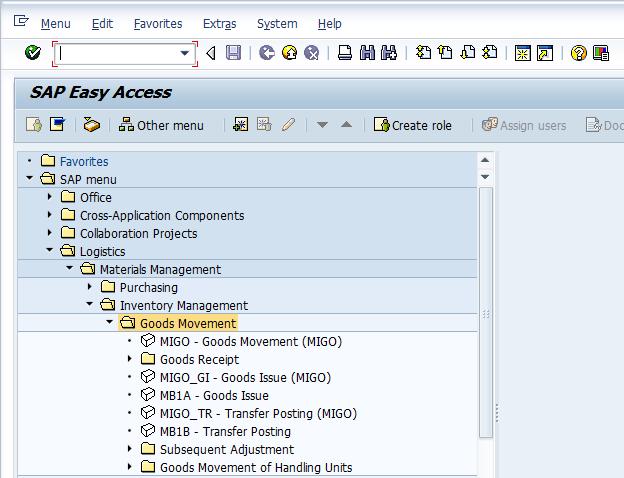 SAP Menu Path to Post a Goods Receipt