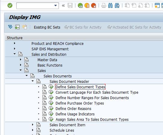 Sales and Distribution > Sales > Sales Documents > Header > Define Sales Document Types
