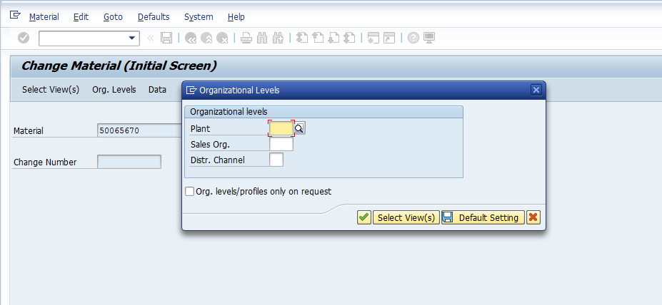 how to change initial screen in sap