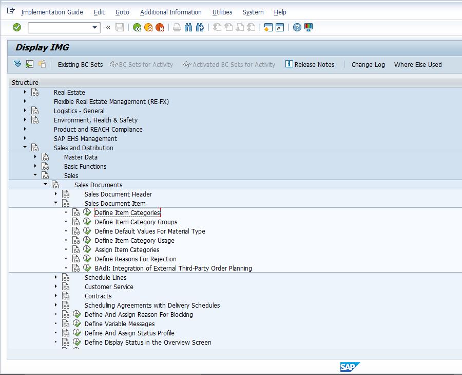 SAP SD Item Categories - Free SAP SD Training