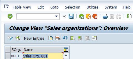 Define Sales Organization - Existing Sales Organizations
