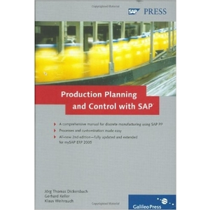 Production-Planning-and-Control-with-SAP-Basic-principles-processes-and-complete-customization-details-1st-Edition -SAP PP Books