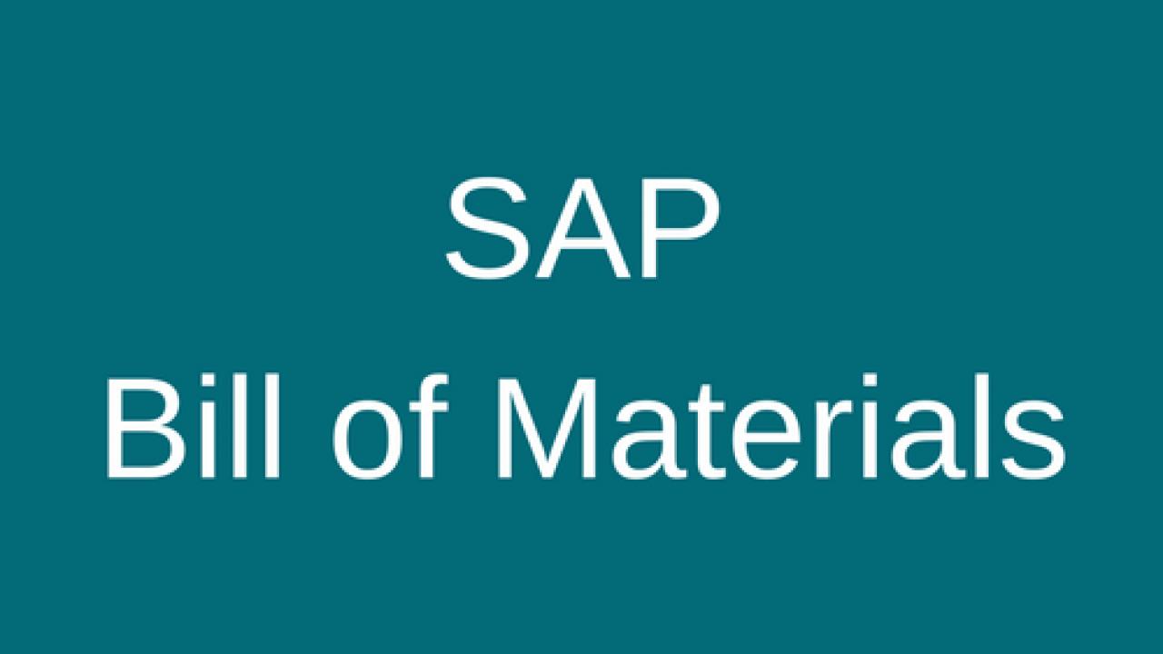 SAP Bill of Materials (BOM) - Free SAP PP Training