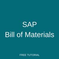 SAP Bill of Materials