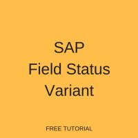 SAP Field Status Variant