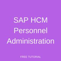 SAP HCM Personnel Administration