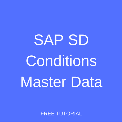 SAP SD Conditions Master Data