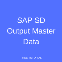 SAP SD Output Master Data
