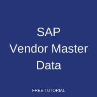 SAP Vendor Master Data