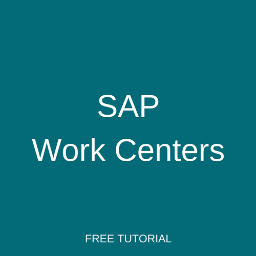 SAP Work Centers