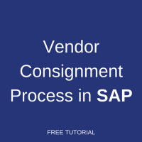 Vendor Consignment Process in SAP
