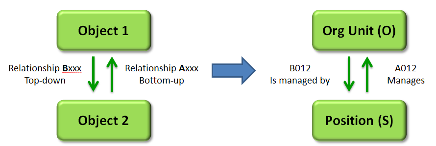 The Concept of Relationship between Objects and Organizational Units