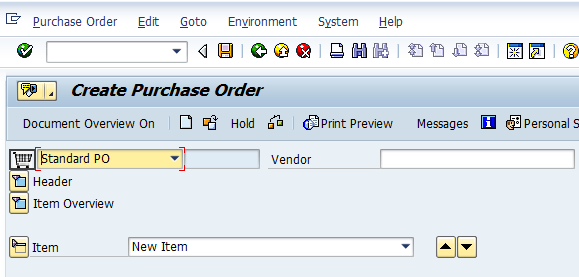 ME21N - Create a Purchase Order