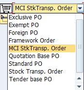 Select Stock Transport Order as the Document Type