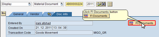 Click FI Documents Button