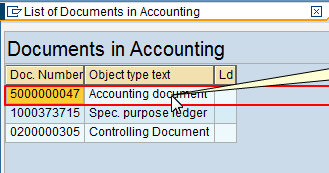 List of Documents in Accounting