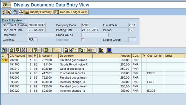 SAP FI Document Corresponding to Transfer Posting