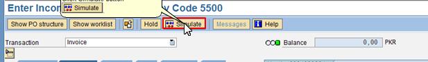 Click Simulate Button