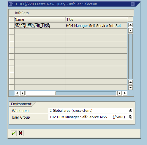 Create New SAP Ad Hoc Query - Select InfoSets