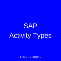 SAP Activity Type