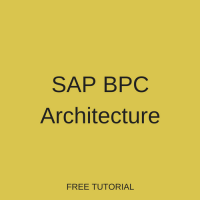 SAP BPC Embedded Architecture