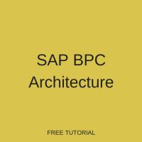 SAP BPC Embedded Architecture