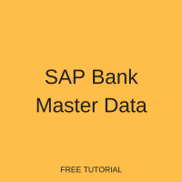 SAP Bank Master Data