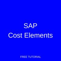SAP Cost Elements