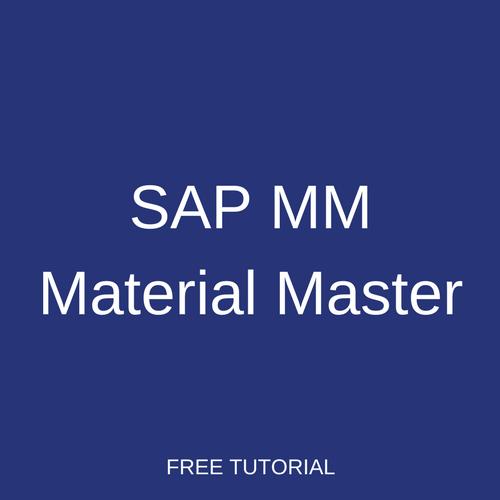 SAP MM Material Master
