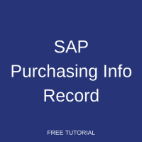 SAP Purchasing Info Record