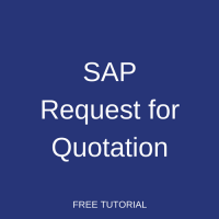 SAP Request for Quotation