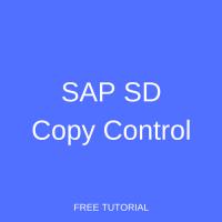 SAP SD Copy Control