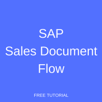 SAP Sales Document Flow