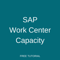 SAP Work Center Capacity