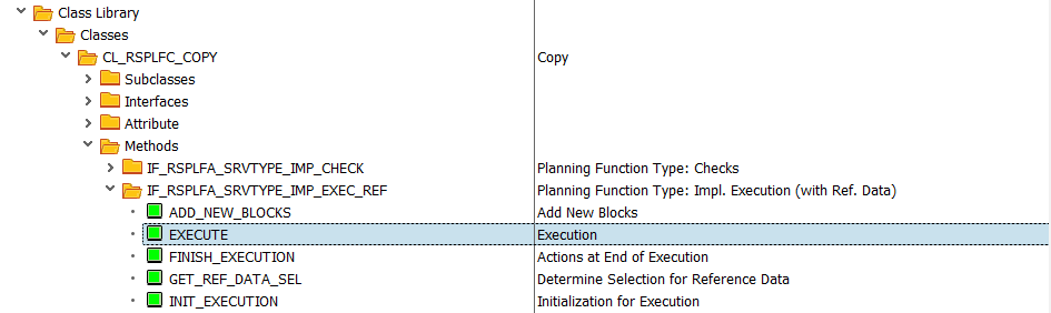 Method Execute in Class CL_RSPLFC_COPY