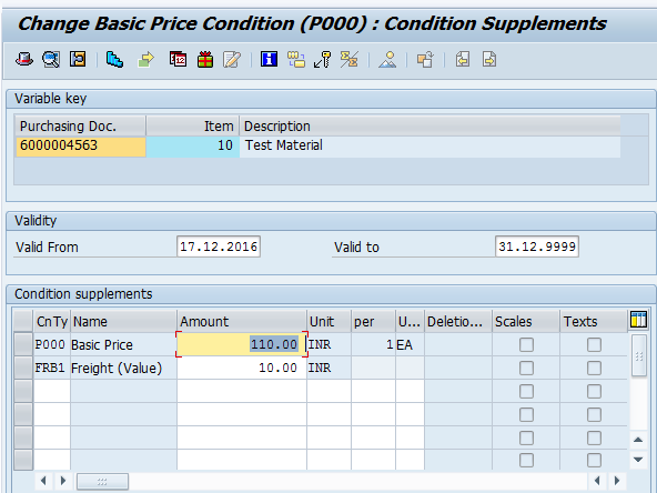 Maintain Quotation - Pricing Conditions (2)
