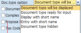 Document Type Option