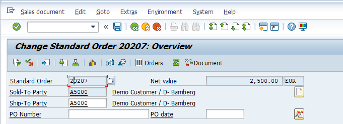 SAP Sales Order Header