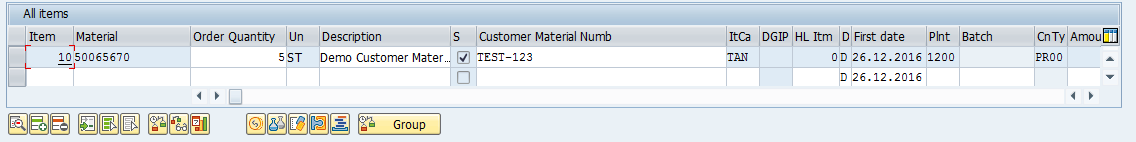 SAP Sales Order Item