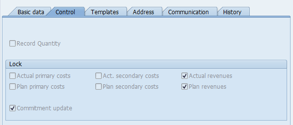Create SAP Cost Center Master Data – Control Tab