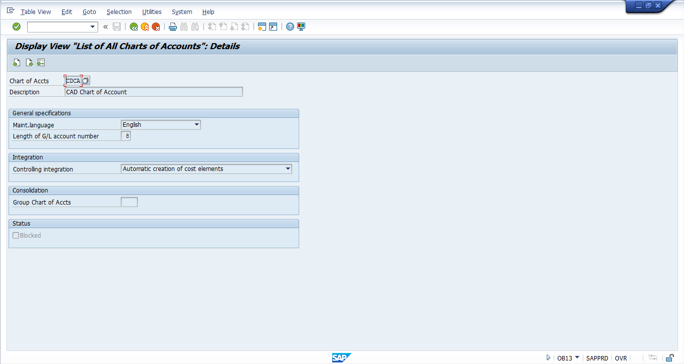 Enable Automatic Creation of Cost Elements in Chart of Accounts