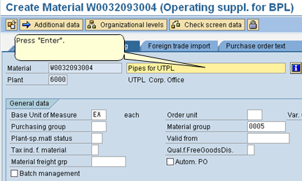 how to create material type in sap mm