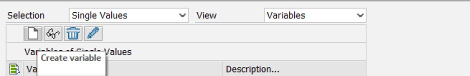 Create Variable Button