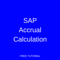 SAP Accrual Calculation