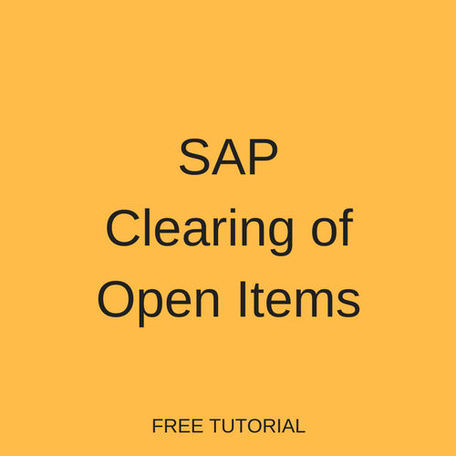 SAP Clearing of Open Items